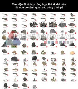 Thư viện Sketchup tổng hợp 100 Model mẫu đá non bộ cảnh quan các công trình p6