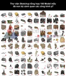 Thư viện Sketchup tổng hợp 100 Model mẫu đá non bộ cảnh quan các công trình p7