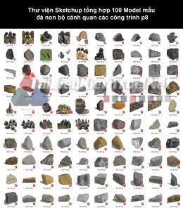 Thư viện Sketchup tổng hợp 100 Model mẫu đá non bộ cảnh quan các công trình p8