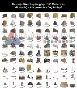 Thư viện Sketchup tổng hợp 100 Model mẫu đá non bộ cảnh quan các công trình p9