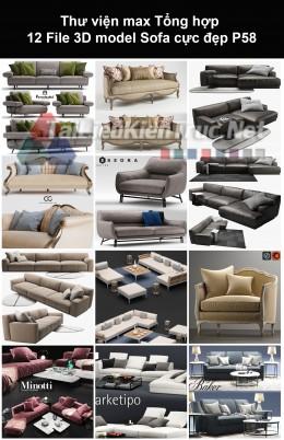 Thư viện max Tổng hợp 12 File 3D model Sofa cực đẹp P58