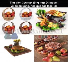 Thư viện 3dsmax tổng hợp 04 model về đồ ăn uống, hoa quả các loại P38