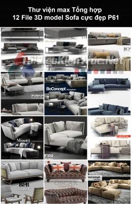 Thư viện max Tổng hợp 12 File 3D model Sofa cực đẹp P61