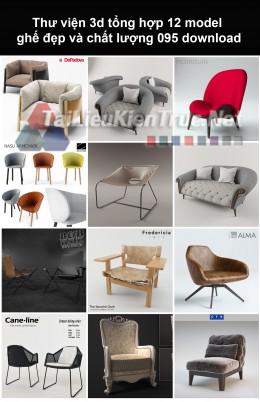 Thư viện 3d Tổng hợp 12 model ghế đẹp và chất lượng 095 download