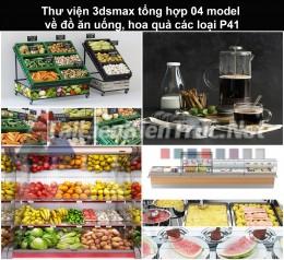 Thư viện 3dsmax tổng hợp 04 model về đồ ăn uống, hoa quả các loại P41