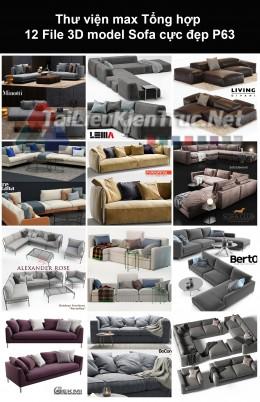 Thư viện max Tổng hợp 12 File 3D model Sofa cực đẹp P63