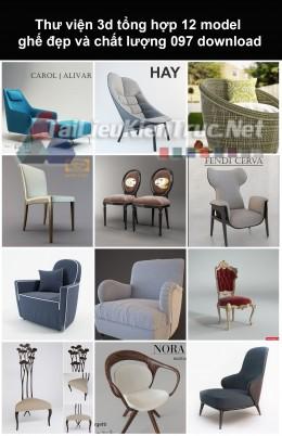 Thư viện 3d Tổng hợp 12 model ghế đẹp và chất lượng 097 download