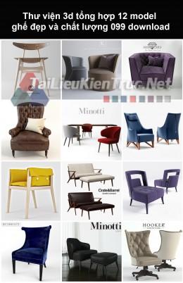Thư viện 3d Tổng hợp 12 model ghế đẹp và chất lượng 099 download