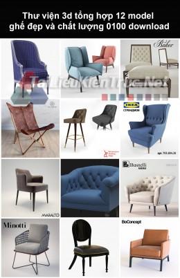 Thư viện 3d Tổng hợp 12 model ghế đẹp và chất lượng 0100 download