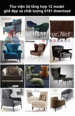 Thư viện 3d Tổng hợp 12 model ghế đẹp và chất lượng 0101 download