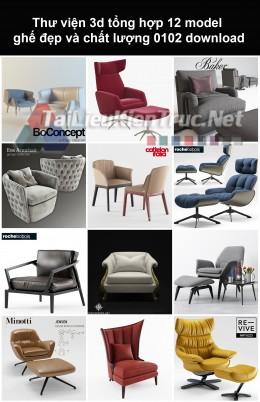 Thư viện 3d Tổng hợp 12 model ghế đẹp và chất lượng 0102 download