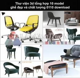Thư viện 3d Tổng hợp 10 model ghế đẹp và chất lượng 0110 download