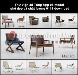 Thư viện 3d Tổng hợp 08 model ghế đẹp và chất lượng 0111 download