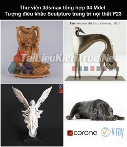 Thư viện 3dsmax tổng hợp 04 Model Tượng điêu khắc Sculpture trang trí nội thất P23
