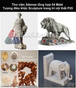 Thư viện 3dsmax tổng hợp 04 Model Tượng điêu khắc Sculpture trang trí nội thất P25