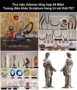 Thư viện 3dsmax tổng hợp 04 Model Tượng điêu khắc Sculpture trang trí nội thất P27
