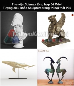 Thư viện 3dsmax tổng hợp 04 Model Tượng điêu khắc Sculpture trang trí nội thất P30