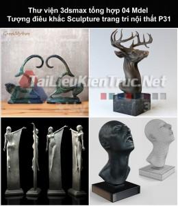 Thư viện 3dsmax tổng hợp 04 Model Tượng điêu khắc Sculpture trang trí nội thất P31