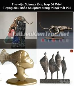 Thư viện 3dsmax tổng hợp 04 Model Tượng điêu khắc Sculpture trang trí nội thất P32
