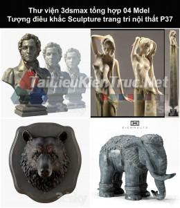 Thư viện 3dsmax tổng hợp 04 Model Tượng điêu khắc Sculpture trang trí nội thất P37