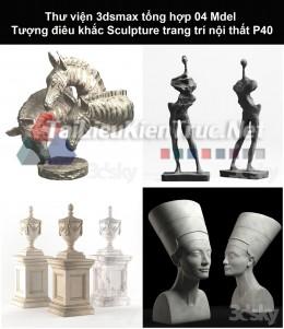 Thư viện 3dsmax tổng hợp 04 Model Tượng điêu khắc Sculpture trang trí nội thất P40