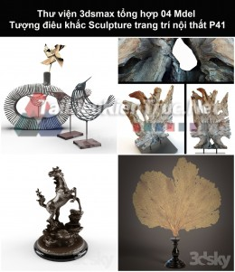 Thư viện 3dsmax tổng hợp 04 Model Tượng điêu khắc Sculpture trang trí nội thất P41