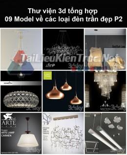 Thư viện 3d tổng hợp 09 model về các loại đèn trần đẹp P2