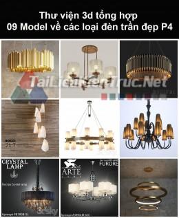 Thư viện 3d tổng hợp 09 model về các loại đèn trần đẹp P4