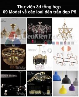 Thư viện 3d tổng hợp 09 model về các loại đèn trần đẹp P5