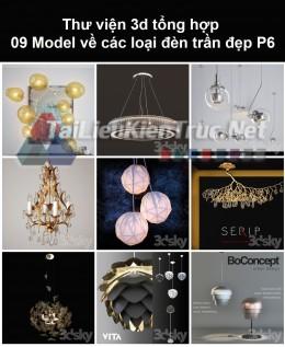 Thư viện 3d tổng hợp 09 model về các loại đèn trần đẹp P6