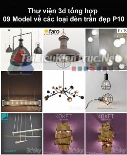 Thư viện 3d tổng hợp 09 model về các loại đèn trần đẹp P10
