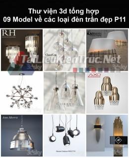 Thư viện 3d tổng hợp 09 model về các loại đèn trần đẹp P11