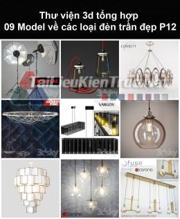 Thư viện 3d tổng hợp 09 model về các loại đèn trần đẹp P12