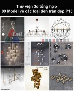 Thư viện 3d tổng hợp 09 model về các loại đèn trần đẹp P13