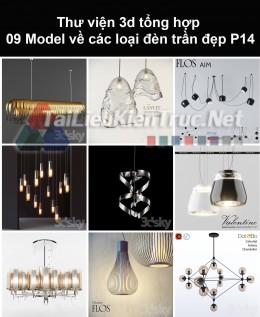 Thư viện 3d tổng hợp 09 model về các loại đèn trần đẹp P14