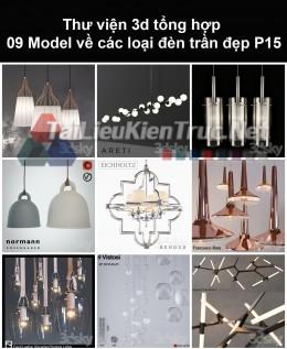 Thư viện 3d tổng hợp 09 model về các loại đèn trần đẹp P15