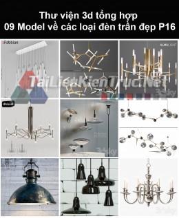 Thư viện 3d tổng hợp 09 model về các loại đèn trần đẹp P16