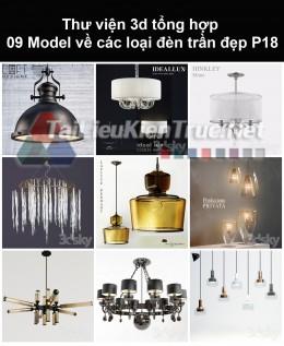 Thư viện 3d tổng hợp 09 model về các loại đèn trần đẹp P18