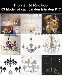 Thư viện 3d tổng hợp 09 model về các loại đèn trần đẹp P17
