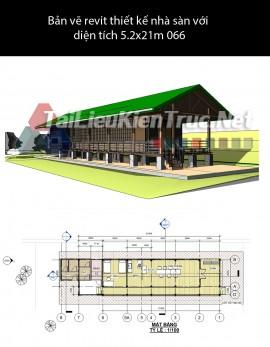 Bản vẽ revit thiết kế nhà sàn với diện tích 5.2x21m 066