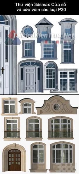 Thư viện 3dsmax Cửa sổ và cửa vòm các loại P30