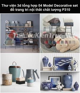 Thư viện 3d tổng hợp 05 Model Decorative set đồ trang trí nội thất chất lượng P310
