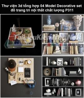 Thư viện 3d tổng hợp 05 Model Decorative set đồ trang trí nội thất chất lượng P311