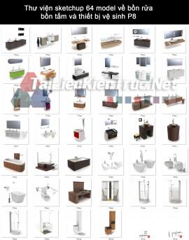 Thư viện sketchup 64 model về bồn rửa, bồn tắm và thiết bị vệ sinh P8