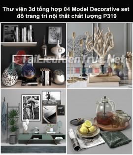 Thư viện 3d tổng hợp 05 Model Decorative set đồ trang trí nội thất chất lượng P319