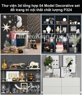 Thư viện 3d tổng hợp 05 Model Decorative set đồ trang trí nội thất chất lượng P324