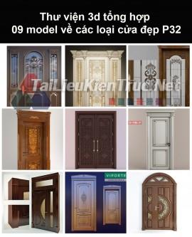 Thư viện 3d tổng hợp 09 model về các loại cửa đẹp P32