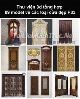 Thư viện 3d tổng hợp 09 model về các loại cửa đẹp P33