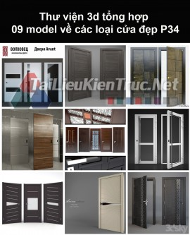 Thư viện 3d tổng hợp 09 model về các loại cửa đẹp P34