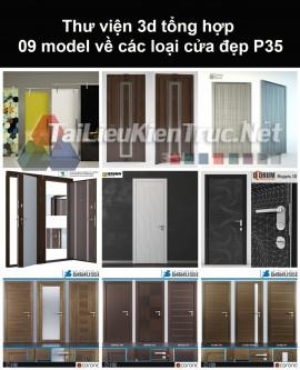Thư viện 3d tổng hợp 09 model về các loại cửa đẹp P35
